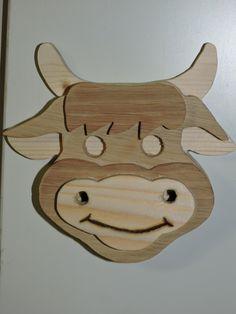 Magnet vache Aubrac : Accessoires de maison par gepetto-bois
