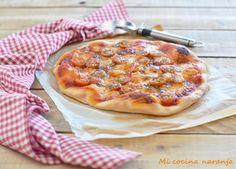 MI COCINA NARANJA: Pizza de tomates cherry y mozzarella