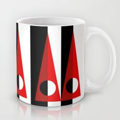 A GEOMETRICAL SUSPECT Mug by THE USUAL DESIGNERS - $15.00