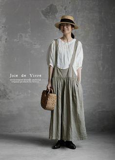 【楽天市場】【送料無料】Joie de Vivreフランダースリネンバイオウォシュ ブレイシーズキュロット:BerryStyleベリースタイル