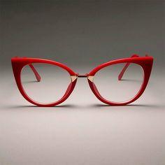 Ladies sexy cat eye glasses frames for women designer optical glasses fashion . - Ladies sexy cat eye glasses frames for women designer optical glasses fashion glasses, - There - Red Cat Eye Glasses, Fake Glasses, Fashion Eye Glasses, Glasses Frames, Lunette Style, Cute Sunglasses, Sunglasses Women, Eye Frames, Designer Eyeglasses