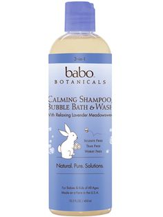 The best non-toxic shampoos for babies: 3-in-1 Calming Shampoo from Babo Botanicals
