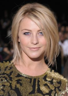 Julianne Hough Hairstyles 2013: Shoulder Length Bob Haircuts for Straight Hair