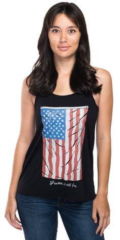 This tank is perfect for 4th of July! Check out Sevenly's #RedWhiteAndBlue collection for other cute tanks and tees for the holiday!