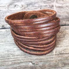 Leather bracelet, wrap bracelet, leather cuff, stacking bracelet, leather jewelry, bohemian jewelry, boho chic by IraBelleAndCo on Etsy https://www.etsy.com/listing/597892566/leather-bracelet-wrap-bracelet-leather