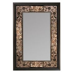 624f0d32dd5 Deco Mirror 26 in. x 37 in. French Tile Rectangle Mirror in Dark Brown-1095  - The Home Depot