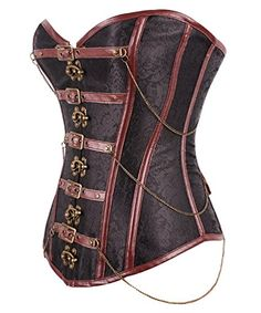 WONDER-BEAUTY Women's Women's Steampunk Gothic Steel Boned Underbust Corset With Clasp at Amazon Women's Clothing store: $16.99  http://amzn.to/2v6rMBW