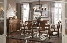 Cherry Park  Rectangular Leg Table Dining Room Set   Kincaid Furniture   Home Gallery Stores