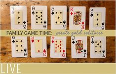 Teach your kids how to play Pirate Gold solitaire card game, a great game even for young kids practicing their number recognition.