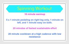 New Spinning Workout