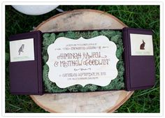 obsessed with these invites, they immediately create the feeling of stepping into a woodland wonderland