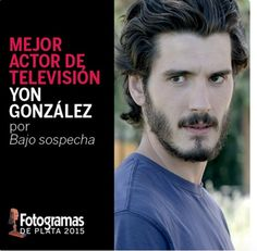 Yon Gonzalez nominated for Best Male Actor in a TV series, 2015.