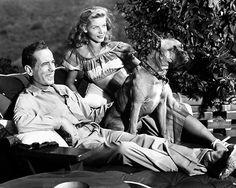 Humphrey Bogart and Lauren Bacall at home, 1946