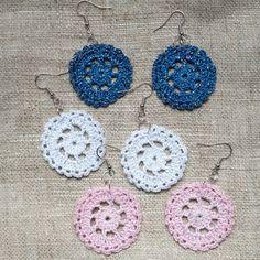 Crochet Accessories, Hair Accessories, Ravelry, Circle Shape, Crochet Clothes, Headbands, Crochet Earrings, Crochet Patterns, Shapes