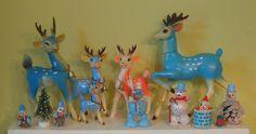 Vintage blue reindeer from Japan