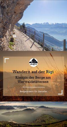 Die Rigi ist eines der beliebtesten Ausflugsziele am Vierwaldstättersee in der Zentralschweiz. Wanderungen gibt es für jedes Anspruchsniveau - vom Spaziergang bis zum Klettersteig. Einige Wanderungen stellen wir in diesem Artikel vor. Camping And Hiking, Hiking Trails, Reisen In Europa, San Clemente, After School, Places To Go, Wanderlust, Beach, Water