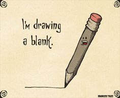 Seven Facts About Drawing A Blank That Will Blow Your Mind Cute Jokes, Cute Puns, Jokes For Kids, Dad Jokes, Funny Quotes, Funny Memes, Hilarious, Corny Puns, Visual Puns