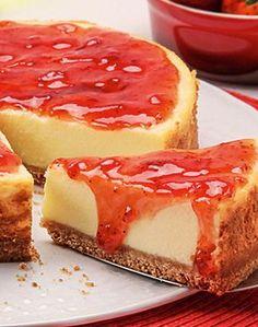 Cheese cake receita morango 27 Ideas for 2019 Easy Cake Recipes, Healthy Dessert Recipes, Easy Desserts, Sweet Recipes, Cheesecakes, Cheesecake Tradicional, Cheese Cake Filling, Cheesecake Tarts, Best Cheese