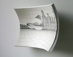 CUE Art Foundation : The Oakes Twins, - perspective drawing?