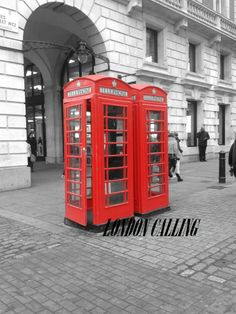 RED TELEPHONE BOXES COVENT GARDEN