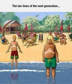 And that is why we wear #sunscreen! #summer #humor