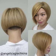 Undercut Bob Haircut, Nape Undercut, Line Bob Haircut, Undercut Hairstyles, Short Undercut, Modern Undercut, Weave Hairstyles, Undercut Styles, Hairdos
