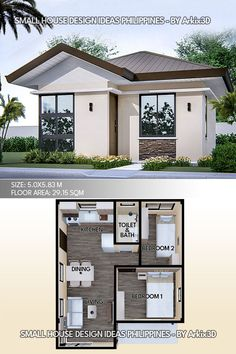Small House Layout, Modern Small House Design, House Layout Plans, House Layouts, Small Modern House Plans, Little House Plans, Small House Floor Plans, Mini House Plans, Sims House Design