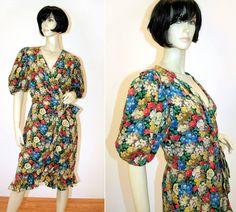 80s Albert Nipon Silk Floral Dress, Bergdorf Goodman label, from Morning Glorious, $125.00