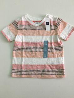 NWT BabyGap Boy's Short Sleeve Striped Top T-shirt size 2T %100 Cotton #babyGap