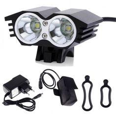 Phare haute luminosité à LED 6000 Lm avec batterie pour vélo