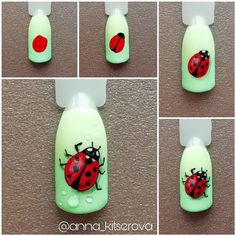 Heat Up Your Life with Some Stunning Summer Nail Art 3d Nail Art, Fruit Nail Art, Nail Art Hacks, Animal Nail Designs, Animal Nail Art, Nail Art Designs Videos, Butterfly Nail, Flower Nail Art, Ladybug Nail Art