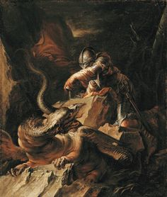 Jason-Charming-the-Dragon-Salvator-Rosa Salvator Rosa paintings, plastic arts, visual arts, art, baroque Music Artwork, Metal Artwork, Dragon C, Kunsthistorisches Museum, Montreal Museums, National Gallery, Old Master, Museum Of Fine Arts, Art Museum