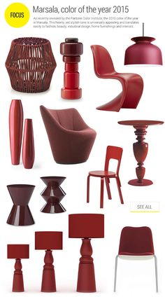 Marsala color of the year 2015 Pantone Colors 2015, Pantone 2015, Marsala, Industrial Chic, Industrial Design, Mood Board Interior, Shades Of Burgundy, Master Room, Colour Board