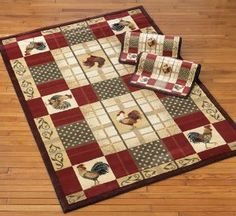 Beautiful Rooster Kitchen Area Rugs | Amazon.com   Rooster Rug With Bonus Scatter Rugs  ,
