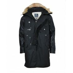 Bolongaro Trevor Carnaby Parka with leather sleeves and fur trim hood. Fur Trim, Parka Jackets, Street Wear, Raincoat, Leather Sleeves, Menswear, Fancy, Archive, How To Wear