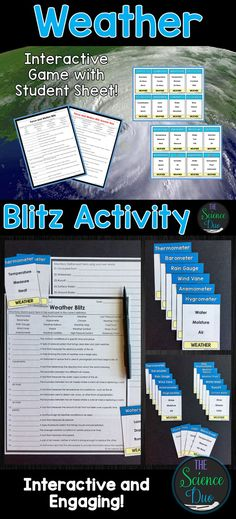This Weather themed activity focuses on retaining vocabulary in an engaging and interactive method. This resource contains 41 cards for use while playing this Taboo-style game.