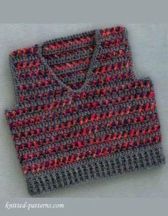 Baby boy vest crochet pattern free