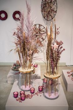 Christmas Deco, Xmas, Dried Flowers, Fall Decor, Dream Catcher, Rose, Glass Vase, Bloom, Table Decorations