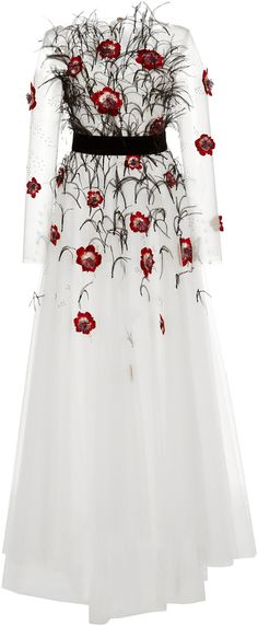 Monique Lhuillier Embellished High Low Gown
