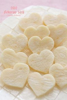 Valentine Hearts made by cheese breads
