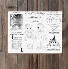 Kids Activity Wedding Kit Printable Childrens Colouring I Spy Paper Dolls Versatile And Customizable Ages 2 DIY Bride UK USA
