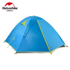 Naturehike 3 Person Tent Double Layer Windproof Waterproof Tent Camping Family Tent blue -- Details can be found by clicking on the image.