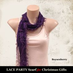Lace Party Scarf (Boysenberry)