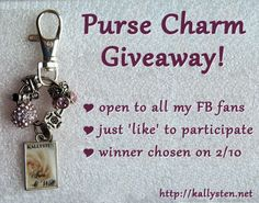 FB giveaway ending 2/10 https://www.facebook.com/photo.php?fbid=597910626962046&set=a.258256517594127.66422.257949197624859&type=1&theater