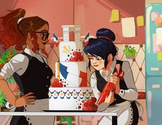 So for my biggest project yet, I was lucky enough to be a part of Miraculous 2019 Calendar. Honestly it was some of the most fun I've ever had. It pushed me to do things with my art. Ladybug Y Cat Noir, Meraculous Ladybug, Ladybug Comics, Ladybug Cakes, Miraculous Ladybug Wallpaper, Miraculous Ladybug Fan Art, Marinette Ladybug, Arte Disney, Ladybugs Movie