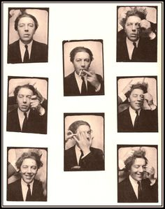André Breton, photobooth, 1925