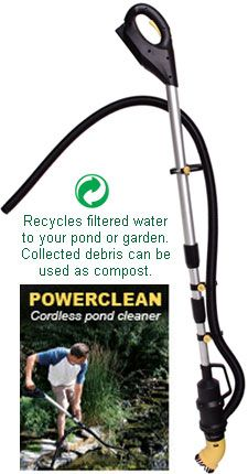 Cordless pond cleaner