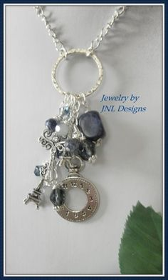 Handmade Charm Necklace with Shades of Blue | jnldesigns - Jewelry on ArtFire