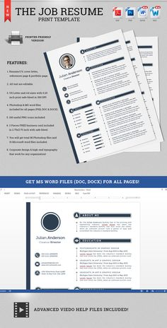 check out the job resume cv print template by snipescientist on creative market