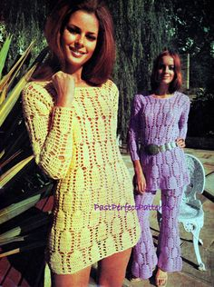 INSTANT DOWNLOAD PDF Vintage Crochet Pattern  Mini Dress Tunic